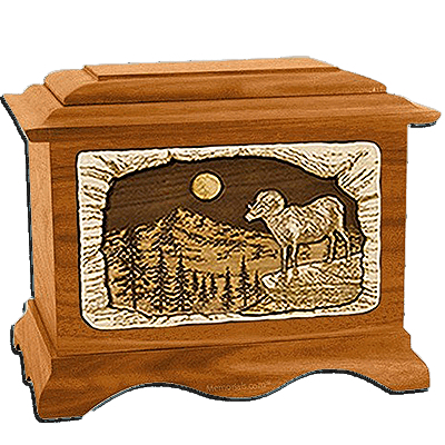 Ram Mahogany Cremation Urn for Two