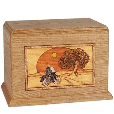 Riding Home Oak Companion Urn