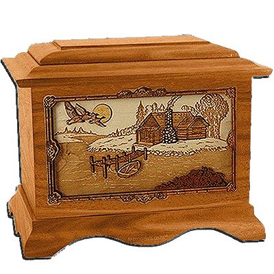 Rustic Paradise Cremation Urns For Two