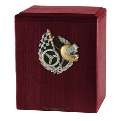 Race Car Rosewood Cremation Urn