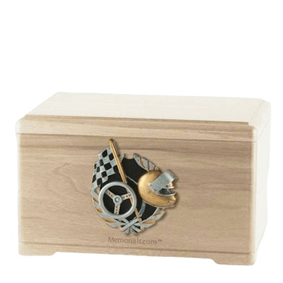 Racecar Fan Maple Cremation Urn