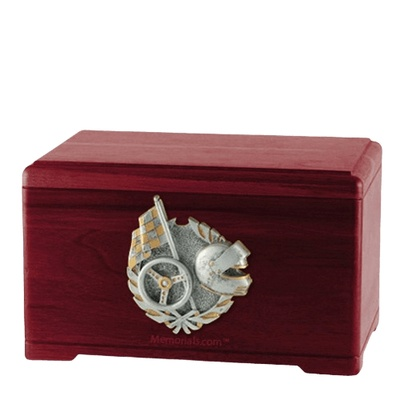 Racing Fan Rosewood Cremation Urn