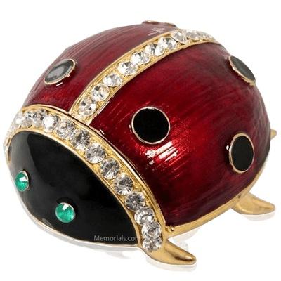 Radiant Ladybug Keepsake Urn