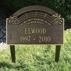 Rainbow Bridge Pet Memorial Plaque