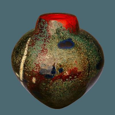 Raku Sun Glass Cremation Urn