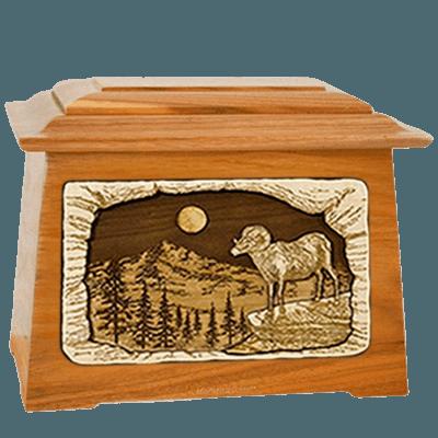 Ram Mahogany Aristocrat Cremation Urn