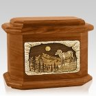 Ram Mahogany Octagon Cremation Urn