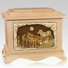 Ram Maple Cremation Urn