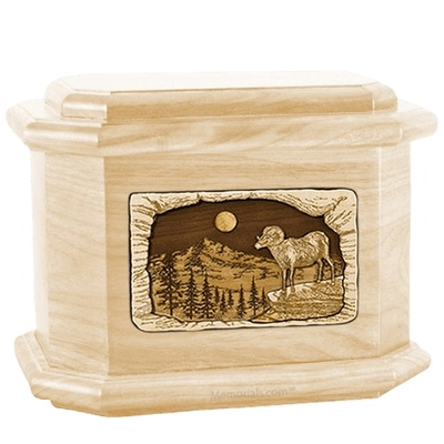 Ram Maple Octagon Cremation Urn