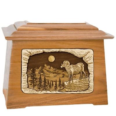 Ram Oak Aristocrat Cremation Urn