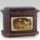 Ram Walnut Octagon Cremation Urn