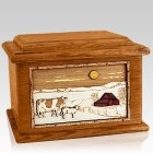 Ranch Mahogany Memory Chest Cremation Urn