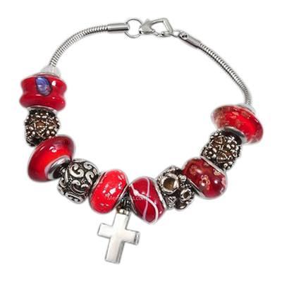 Red Cross Cremation Bracelet