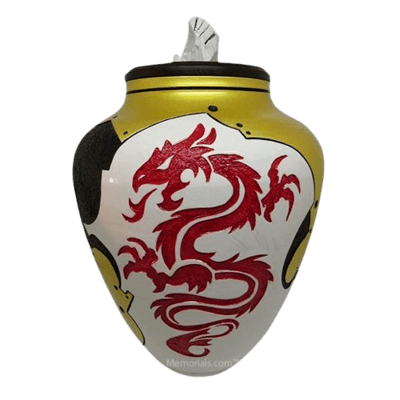 Red Dragon Cremation Urn