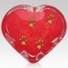 Red Heart Pet Keepsake Urn