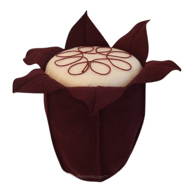 Red Wine Tulip Cremation Urn