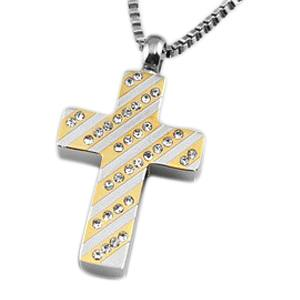 Regal Cross Cremation Jewelry