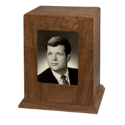 Reminisce Photo Wood Cremation Urn