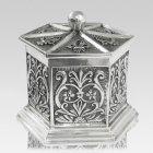 Renaissance Silver Cremation Urn