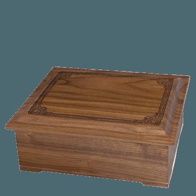 Renaissance Wood Cremation Urn II