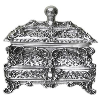 Resplendent Silver Cremation Urn