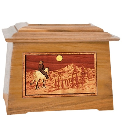 Riding Home Oak Aristocrat Cremation Urn