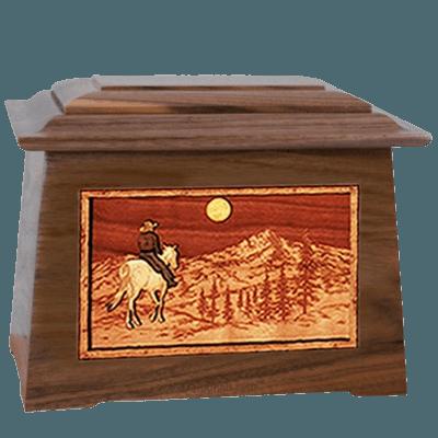 Riding Home Walnut Aristocrat Cremation Urn