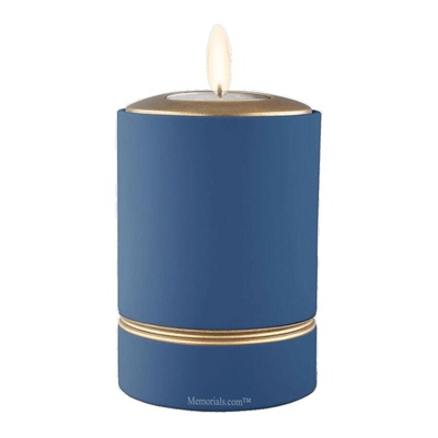 Ripple Blue Tea Light Keepsake Urn