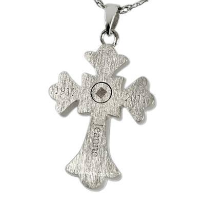 Roman Cross Cremation Pendant