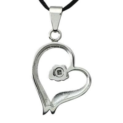 Rose Heart Cremation Pendant