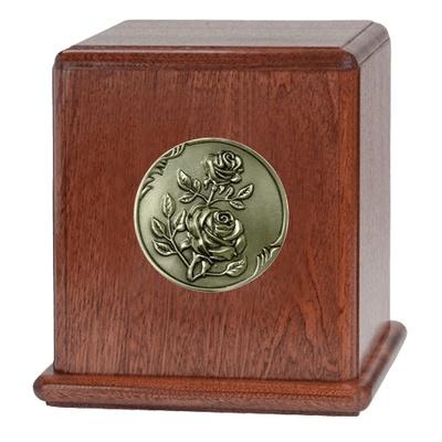 Rose Mahogany Wood Urn