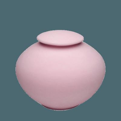Rose Pink Pocrelain Clay Urn
