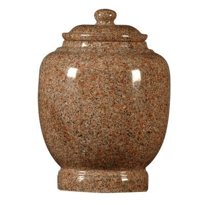 Rose Satin Granite Cremation Urn