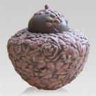 Rosebed Ceramic Cremation Urn