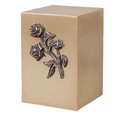 Roses Bronze Cremation Urn
