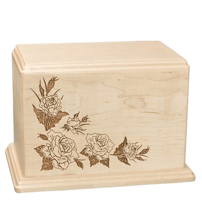 Roses Companion Maple Wood Urn