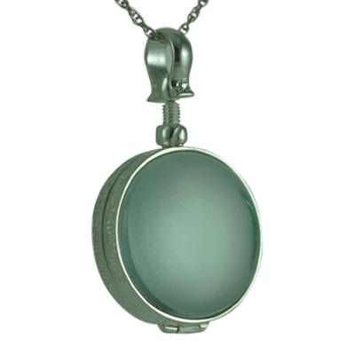 Round Glass Locket Memorial Jewelry