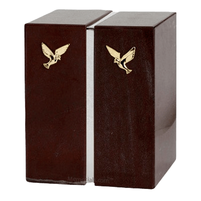 Russo Laguna Silver Marble Urn for Two