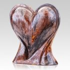 Rustic Heart Ceramic Pet Urns