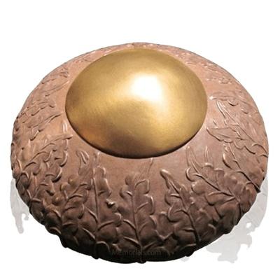 Rustic Ivy Bronze Cremation Urn