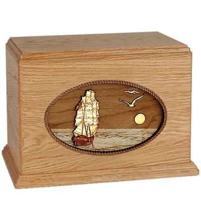 Sailing Home Oak Companion Urn