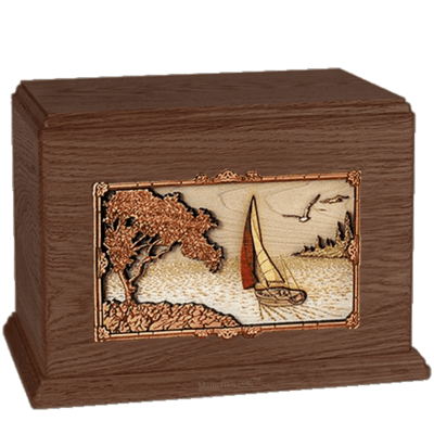 Sailing Walnut Companion Urn