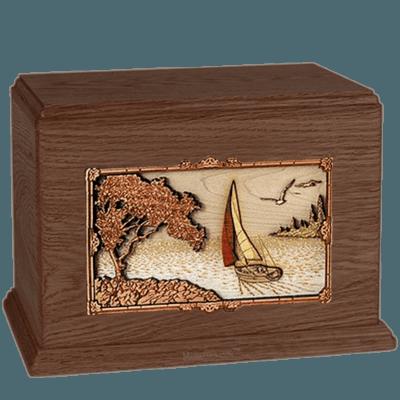 Sailing Walnut Companion Urn