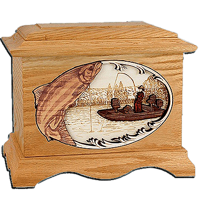 Salmon Fishing Cremation Urns For Two