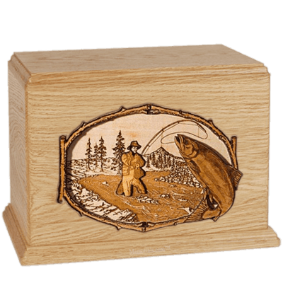 Salmon Stream Maple Companion Urn