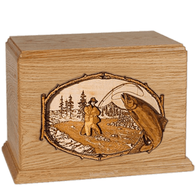 Salmon Stream Oak Companion Urn