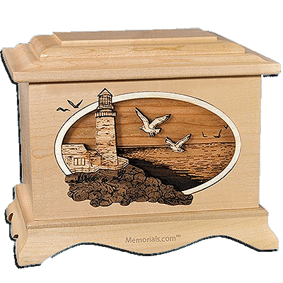 Sea Coast Maple Cremation Urn for Two