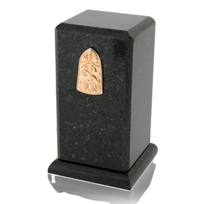 Stylus Cambrian Black Granite Cremation Urn