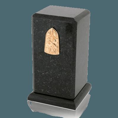 Stylus Cambrian Black Granite Cremation Urn
