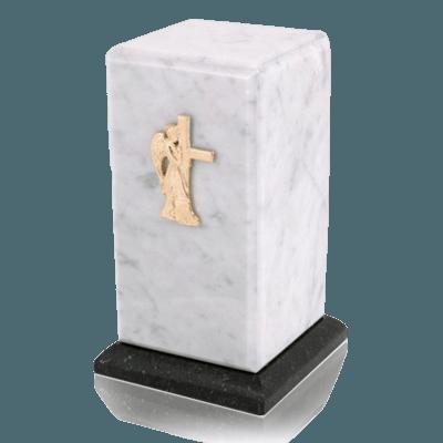 Stylus Bianco Carrera Marble Cremation Urn